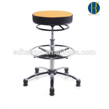 HY1024 Flat Esthetician Technician Doctor Therapist Stool Metal Chrome Base