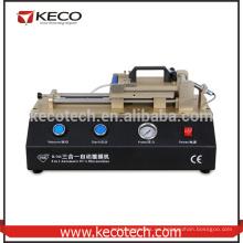 2016 Nuevo 3 en 1 máquina automática del laminador de la película del lcd OCA del teléfono incorporó el compresor de aire