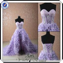 PP0180 Sexy Sweetheart vestido de casamento roxo frente curto longo