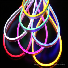 12V double color 120LEDS mini size ultra thin neon flex rope light for building and signs