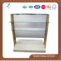 Wooden Gondola Display Stand with Tempered Glass
