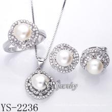 Joyería de plata de moda conjunto de perlas / plata 925 (ys-2236)