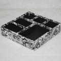 Papel de cartón rígido Papel de escritorio Bandeja de caja con divisores