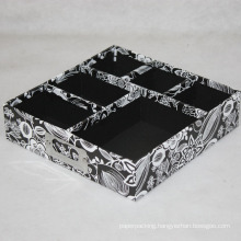 Rigid Cardboard Paper Desktop Stationery Box Tray with Dividers