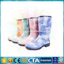 New Fashion rain boots Environmental latest design women wellington boots ladies rain Boots