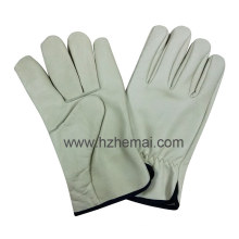Cow Grain Leather Driver Gloves