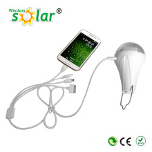 Портативный мини солнечной комплект освещения, солнечных светодиодный свет с зарядным устройством, пластиковый Солнечный заряжатель мигалки