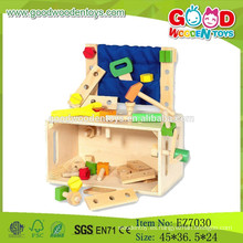 2015 Nuevos juguetes de caja de madera de herramientas, caja de herramientas de juguete popular, juguete de madera de juguete