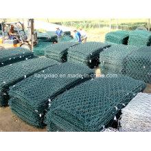 Alta qualidade de PVC revestido galvanizado Hexagonal Gabion Wire Mesh Box Preços (HPZS6002)
