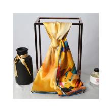 Женский шарф из 100% чистого шелка, 16 мм, 89 * 89 см