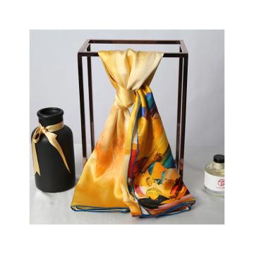 Écharpe en soie 100% pure 16MM 89*89CM pour femme