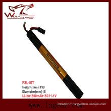 Firefox-1500 militaires 11.1V-batterie bâton de 15C Li-Po Li-polymère