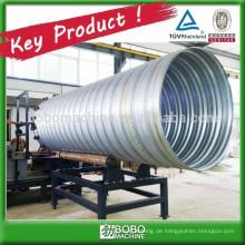 Verzinkte Stahl-Wellrohr-Rohrleitungsmaschine