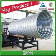 Machine de fabrication de tuyaux de ponceaux en acier galvanisé