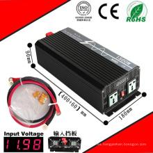 Inversor DC-AC de 1500W Inversor de onda sinusoidal pura de 12VDC / 24VDC a 110VAC / 220VAC