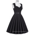 Grace Karin Wholesale Sleeveless Sweetheart V-Back High Stretchy Retro Vintage Black Party Dress CL008948-1