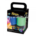 Neon acrylic paint set for kids