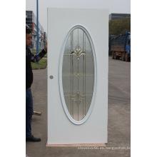 Puerta de acero con vidrio antiniebla