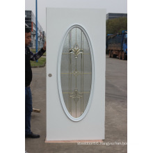 Fangda Smooth Finished Bathroom Steel Glass Door