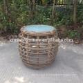 Table d'appoint ronde en osier meubles thé