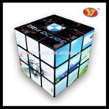 Cubos mágicos plásticos de encargo de la manera al por mayor 3x3x3 con buen quanlity y empaquetado modificado para requisitos particulares del logotipo