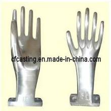 Molde guante de acero inoxidable para fundición
