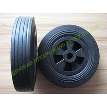 "solid wheel Size : 8*2"" with plastic rim"