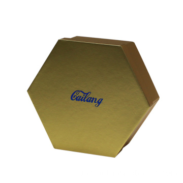 Emas Dua Pieces Hexagon Cardboard Folding Gift Box