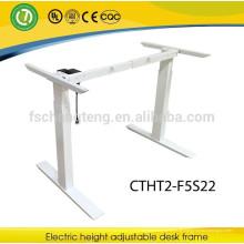 2 Beine singel motor elektrisch einstellbar stehen Büro Schreibtisch Rahmen in 2 Gelenke