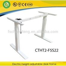 2 Legs singel motor electric adjustable stand up office desk frame in 2 joints