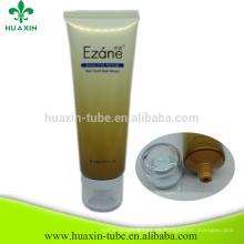 recipiente de crema facial vacía tubo de plástico