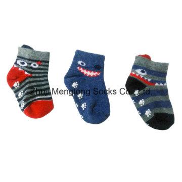 Bebé niños algodón 3D lindo botines calcetines