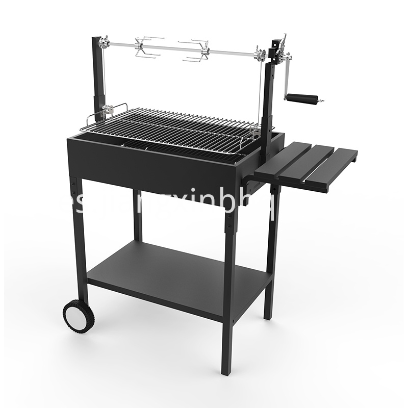 BBQ Charcoal grill with rotisserie kit