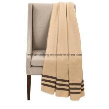 Couvertures de laine mérinos pure laine vierge tissée