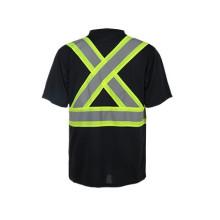 T-shirts de segurança de materiais de alto desempenho, T-shirts reflexivos da norma CSA Z96-09