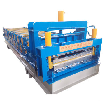 Glazed Tile Roofing Sheet Double Deck Forming Machine