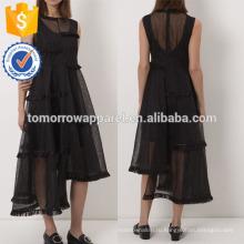 Новая мода черный рукавов Миди платье Производство Оптовая продажа женской одежды (TA5232D)