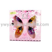 conjunto de cosméticos lábio cor presente