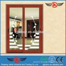 JK-AW9101 dekorative Aluminium Tür / Balkon Schiebetür aus Glas