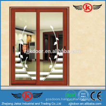 JK-AW9101 decorative aluminum door/balcony sliding glass door