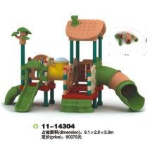 Oem Children Playground / Children Outdoor Plastic Playground Slide Equipment 6.9*3.6*3.5m
