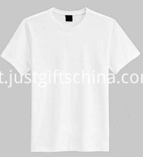 Custom Cotton Round Neck Tees - Classic White