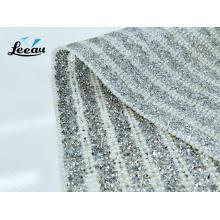 Iron Crystal mesh Pearl Rhinestone Sheet