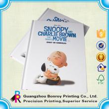 servicio de impresión de libro de tapa dura del colorante de encargo barato cómico de China