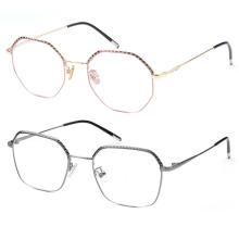 Anteojos ópticos de metal personalizados.
