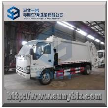 4X2 Isuzu Refuse Truck 6000 L Compress Garbage Truck