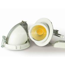 New ajustável 90degree 15W 20W rodada Gimbal COB LED Downlight
