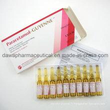 Injection de paracétamol 300mg / 2ml de traitement de fièvre élevée
