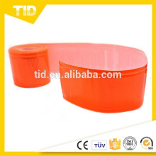 "2"" WIDTH ORANGE RED REFLECTIVE & FLUORESCENT PVC GLOSS TAPE (CHOOSE LENGTH)"