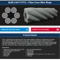 6X36 (14/7+7/7/1) - Fibre Core Wire Rope
